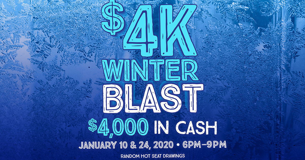 Madill Gaming Center Winter Blast Promotion